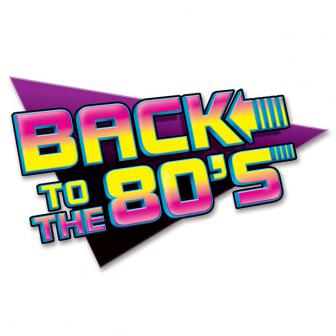 "Wanddeko ""Back to the 80s"" 62 cm"