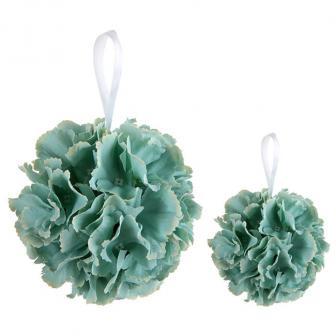 Raumdeko Blütenball in Mint-Grün