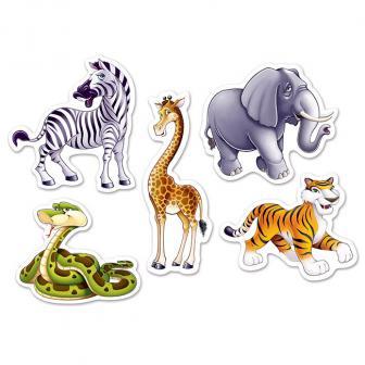 "Raumdeko ""Dschungel Tiere"" 17 cm 10-tlg."