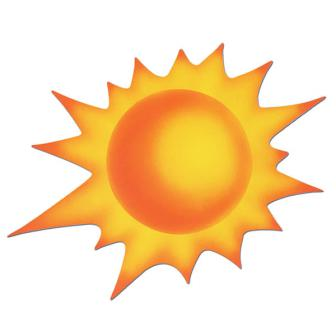"Raumdeko ""Heiße Sonne"" 59 cm"
