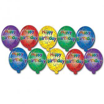 Raumdeko Mini-Luftballons Happy Birthday 10-tlg.