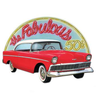 Raumdeko Roter Cadillac 62 cm