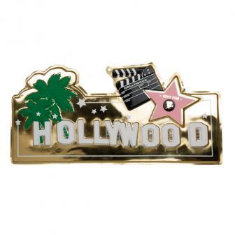 """Raumdeko Schild """"Hollywood"""" 60 x 22 cm"""