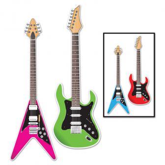 "Raumdeko ""Bunte Gitarren"" 91 cm 2er Pack"