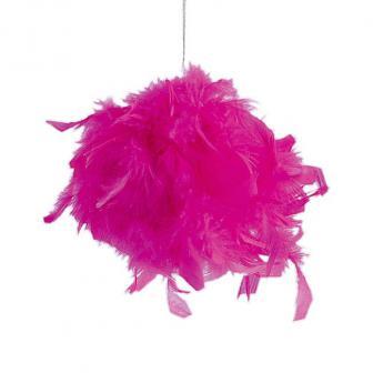 Raumdeko Federkugel-pink-10 cm