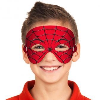 """Schaumstoff-Maske """"Spinnennetz"""" 14 cm"""