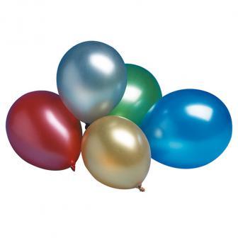 Schimmernde Luftballons Metallic 7er Pack