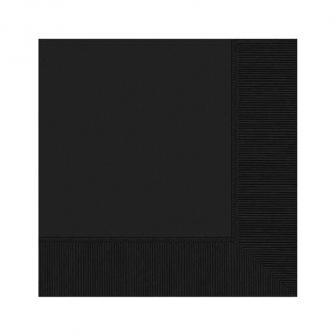 Einfarbige Servietten 20er Pack-schwarz