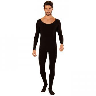 Schwarzer Ganzkörper-Body für Männer