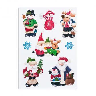 """Selbstklebende Wanddeko """"Weihnachten"""" 8-tlg."""