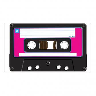Selbstklebende Wanddeko Kassette 51 cm