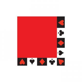"""Servietten """"Casino Life"""" 16er Pack"""