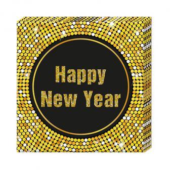 "Servietten ""Glamour New Year"" 20er Pack"