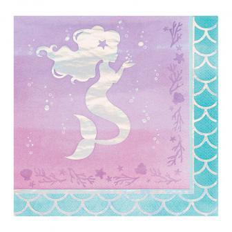 "Servietten ""Mermaids have fun"" mit Meerjungfrau 16er Pack"