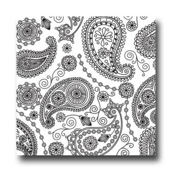 """Servietten """"Paisley Muster"""" 20er Pack-schwarz"""