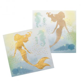 "Servietten ""Wunderschöne Meerjungfrau"" 12er Pack"