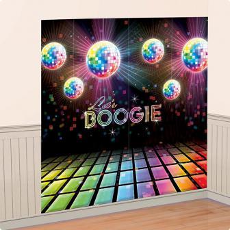 """Wanddeko """"Buntes Disco Fever"""" 82,5 x 165,1 cm 2-tlg."""