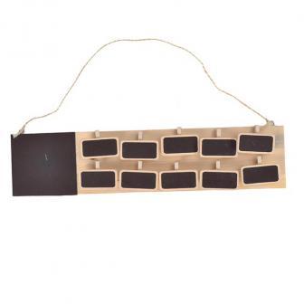 Sitzordnung mit Holztafeln 11-tlg.