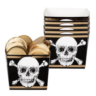 "Snack-Boxen ""Totenkopf des Grauens"" 6er Pack"