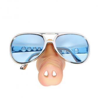 Sonnenbrille mit Schweinchen Nase