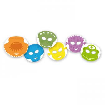 Spiel-Pappmasken Außerirdische 6er Pack
