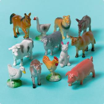 Spielzeug Bauernhoftiere 12er Pack