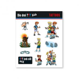 Tattoos Drei Fragezeichen 10-tlg.
