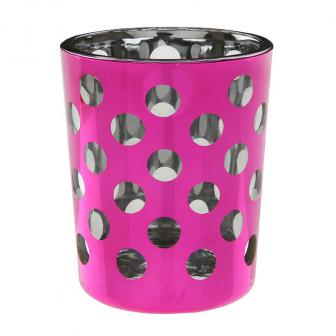 "Teelichthalter ""Polka Dots"" 2er Pack-pink"
