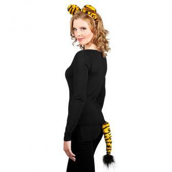 Tiger-Set Haarreif und Schwänzchen 2-tlg.