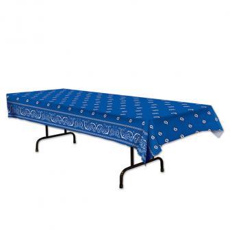 "Tischdecke ""Blaues Bandana"" 137 x 274 cm"