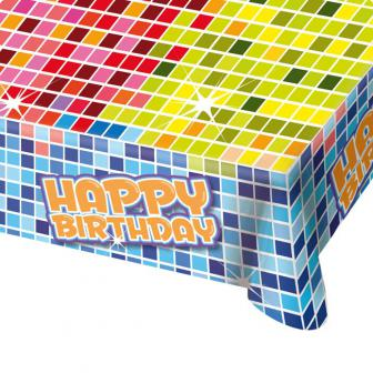 "Tischdecke ""Happy Crazy Birthday"" 180 x 130 cm"