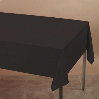 Tischdecke 137 x 274 cm-schwarz