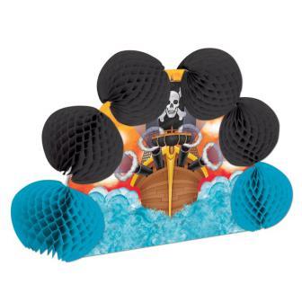 Tischdeko 3D Piratenschiff 25 cm