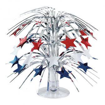 """Tischdeko Fontäne """"Stars USA"""" 22 cm"""