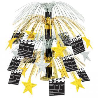 "Tischdeko Hollywood-Fontäne ""Filmklappe"" 46 cm"