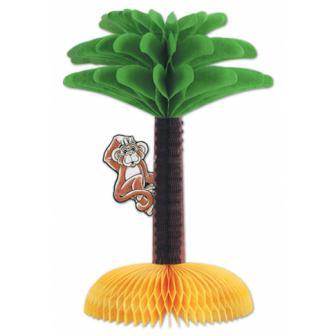 Tischdeko Palme mit Affe 33 cm