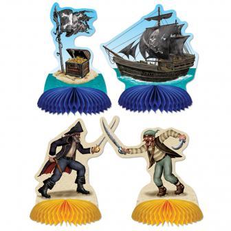Tischdeko Piratenleben 14 cm 4er Pack