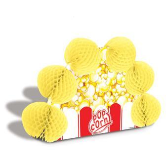 Tischdeko Popcorntüte mit Wabenpapier 25 cm