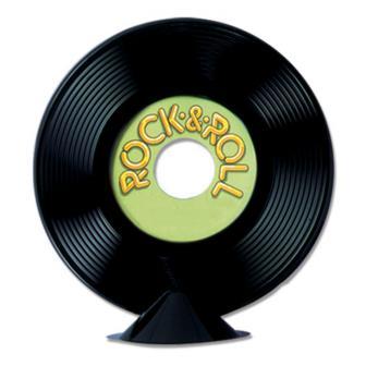 Tischdeko Rock & Roll-Schallplatte 23 cm