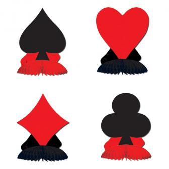 """Tischdeko """"Spiel-Symbole"""" 4-tlg."""
