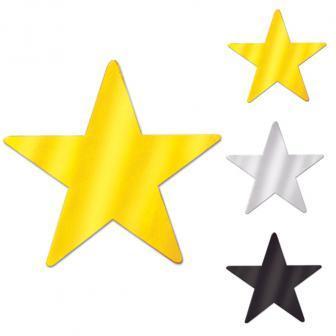 "Tischdeko ""Leuchtende Sterne"" 9,5 cm 12er Pack"