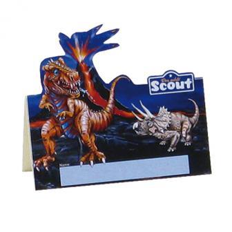 Tischkarten Dinosaurier 8er Pack