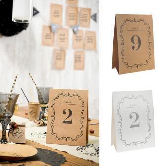 "Tischkarten ""Vintage"" 1 - 10"
