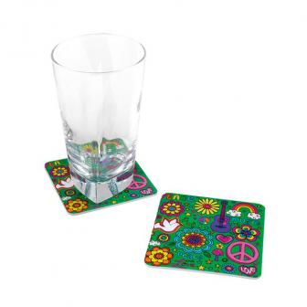 "Untersetzer ""Wilde Flower Power-Party"" 8er Pack"