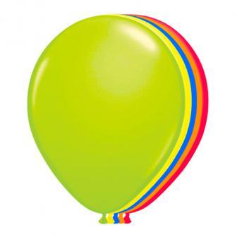 """UV Leucht-Luftballons """"Neon"""" bunt 8er Pack"""
