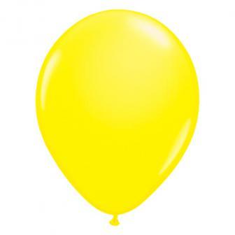 UV Leucht-Luftballons einfarbig 50er Pack-neongelb