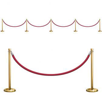 Wanddeko VIP Absperrung Roter Teppich