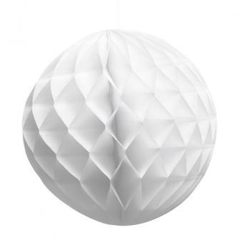 "Wabenpapier-Ball ""Farbenfroh"" 25 cm-weiß"