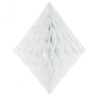 Wabenpapier-Diamant 30 cm-weiß
