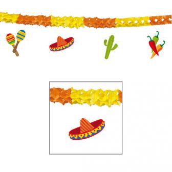 "Wabenpapier-Girlande ""Happy Fiesta"" 4 m"